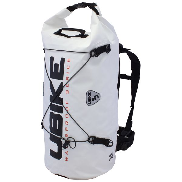 Sac a dos Moto UBIKE Cylinder Bag 30 L Blanc Noir