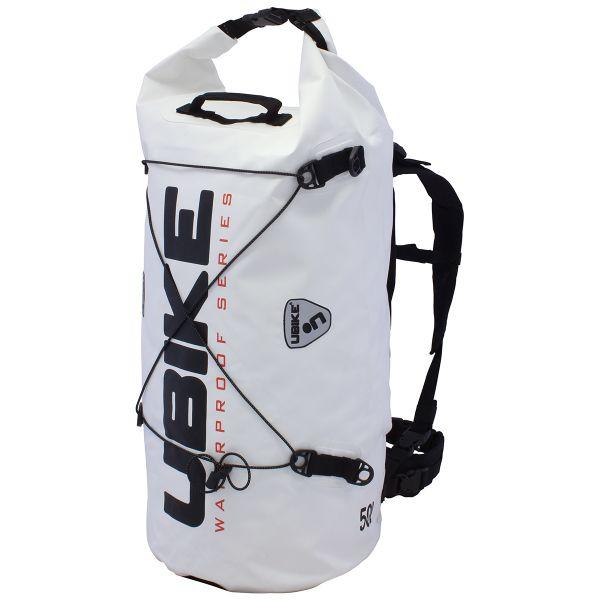 Sac a dos Moto UBIKE Cylinder Bag 50 L Blanc Noir
