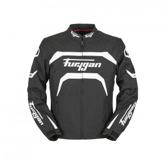 Blouson Moto Furygan Arrow Black White