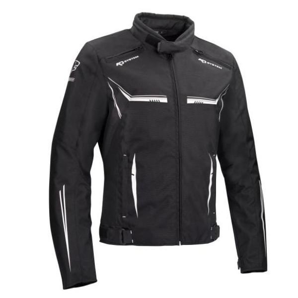 Blouson Moto Bering Ross Black White