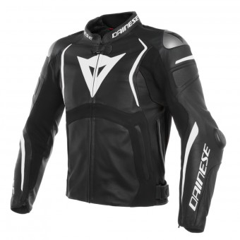 Blouson Moto Dainese Mugello Leather Black White