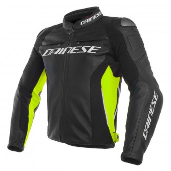 Blouson Moto Dainese Racing 3 Black Yellow Fluo