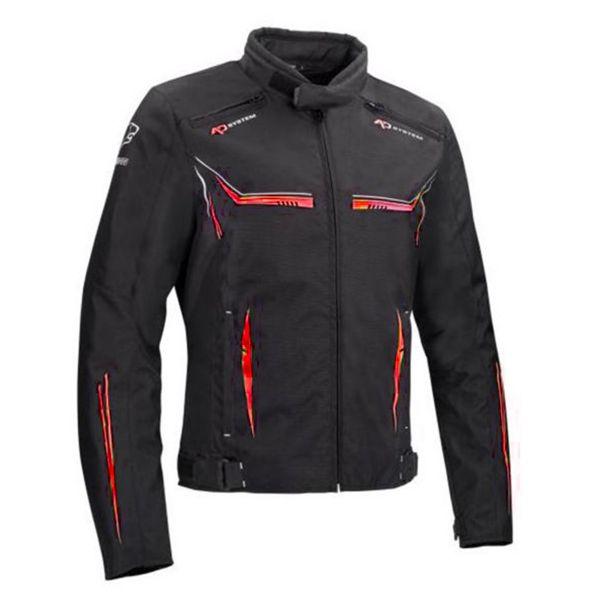 Blouson Moto Bering Ross Black Red