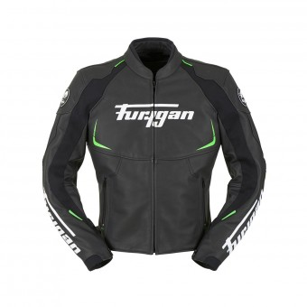 Blouson Moto Furygan Spectrum Black Green Fluo