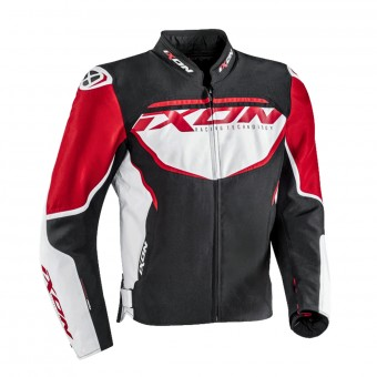 Blouson Moto Ixon Sprinter Black White Red