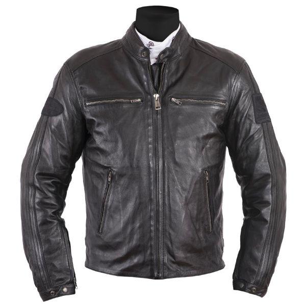 Blouson Moto Helstons Ace Leather Rag Black