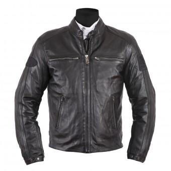 Blouson Moto Helstons Ace Leather Rag Full Black
