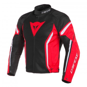 Blouson Moto Dainese Air Crono 2 Tex Black Red White
