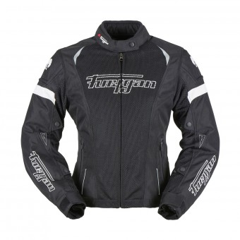 Blouson Moto Furygan Ambra Vented Lady 3in1 Black White