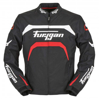 Blouson Moto Furygan Arrow Black White Red