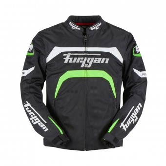 Blouson Moto Furygan Arrow Vented Black White Fluo Green