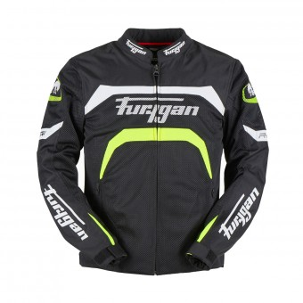 Blouson Moto Furygan Arrow Vented Black White Fluo Yellow