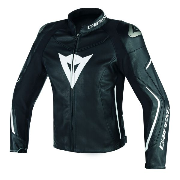 Blouson Moto Dainese Assen Perforated Black White