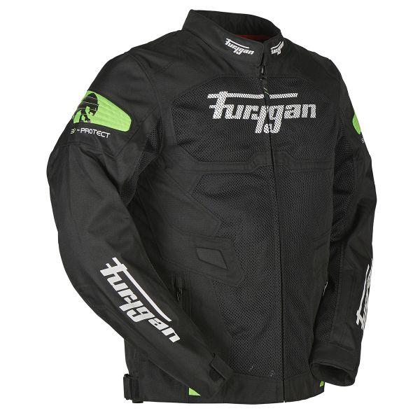 Furygan Atom Vented Black Green Fluo