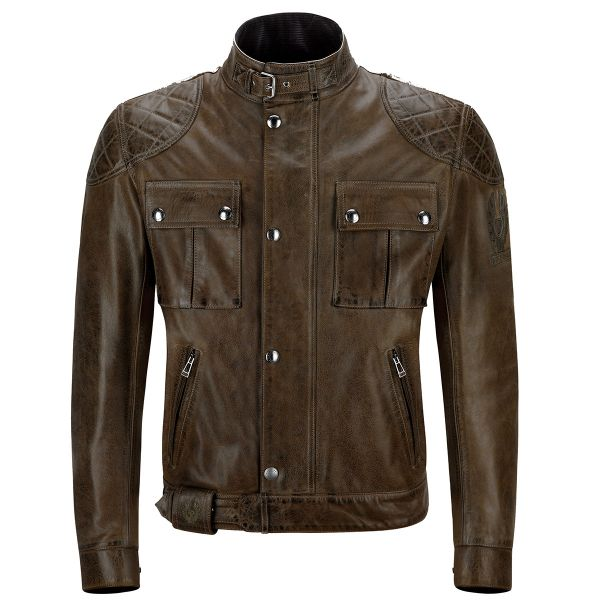 Blouson Moto Belstaff Brooklands Leather Black Brown