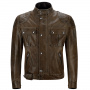 Blouson Moto Belstaff Brooklands Leather Black Brown
