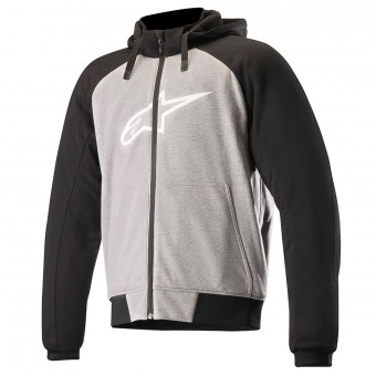 Blouson Moto Alpinestars Chrome Sport Hoodie Anthracite Black White