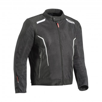 Blouson Moto Ixon Cool Air Black White