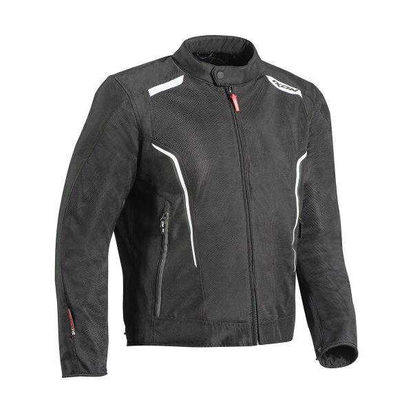 Blouson Moto Ixon Cool Air Black White