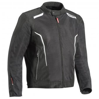 Blouson Moto Ixon Cool Air C Black White