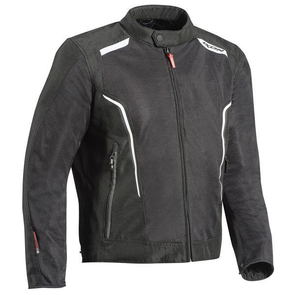 Blouson Moto Ixon Cool Air C Black White