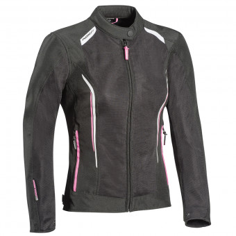 Blouson Moto Ixon Cool Air Lady Black White Pink