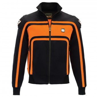 Blouson Moto Blauer Easy Rider Noir Orange