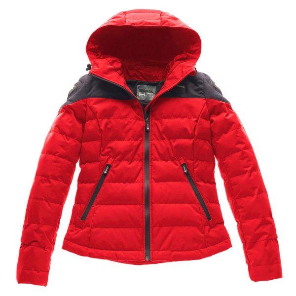 Blouson Moto Blauer Easy Winter 2.0 Woman Red Blue
