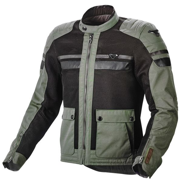 Blouson Moto Macna Fluent Military Green