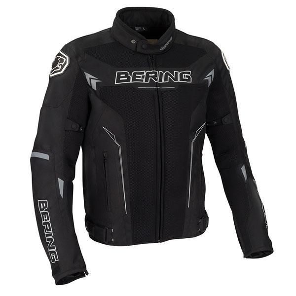 Blouson Moto Bering Mistral Noir Blanc Gris