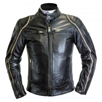 Blouson Moto Helstons Modelo Rag Noir Beige