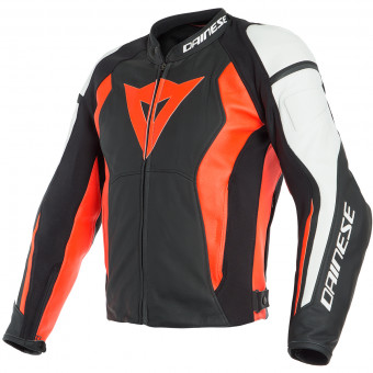 Blouson Moto Dainese Nexus Black Fluo Red White