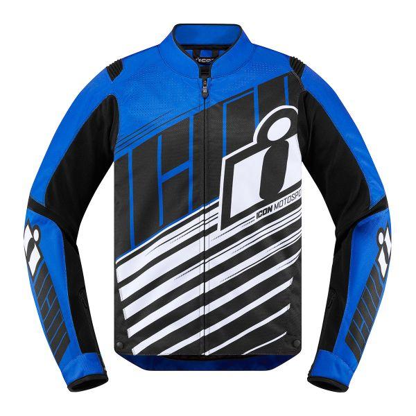 Blouson Moto ICON Overlord SB2 Bleu