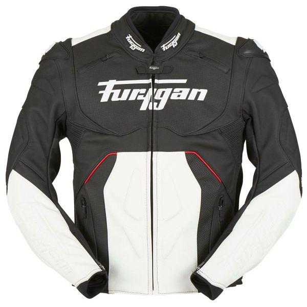 Blouson Moto Furygan Raptor Evo Black White Red