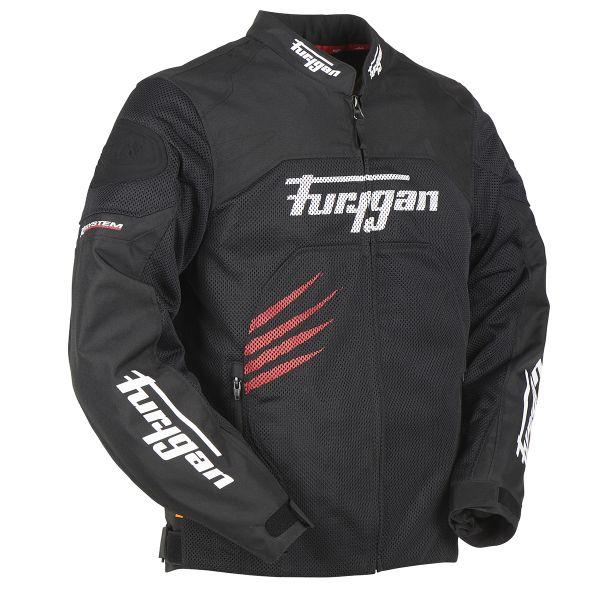 Blouson Moto Furygan Rock Vented Black Red