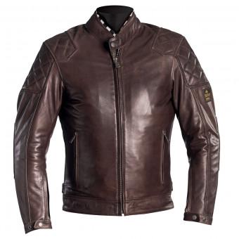 Blouson Moto Helstons Scoty Leather Brown
