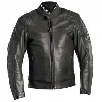 Blouson Moto Helstons Scoty Leather Kaki