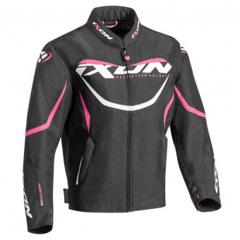 Blouson Moto Ixon Sprinter Kid Lady Black Fuchsia