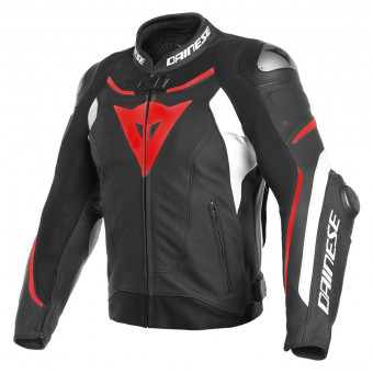Blouson Moto Dainese Super Speed 3 Black White Fluo Red