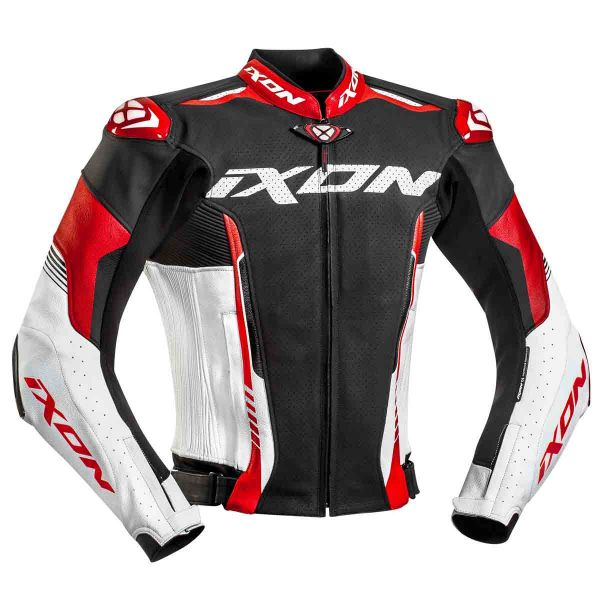 blouson moto ixon vortex 2 jacket noir blanc rouge en stock. Black Bedroom Furniture Sets. Home Design Ideas