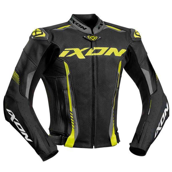 Blouson moto Ixon Vortex 2 Jacket Noir Gris Jaune Vif Au Meilleur ... 2d4011995e5