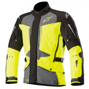 Veste Moto Alpinestars Yaguara Drystar Black Dark Grey Yellow Fluo