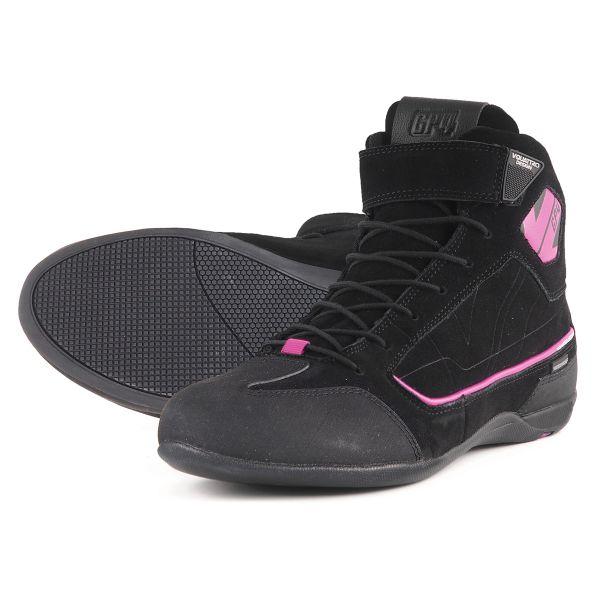 Baskets Moto V'Quattro GP4 Lady Waterproof Black Pink