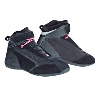 Baskets Moto Ixon Speeder Waterproof Lady Black Fuschia