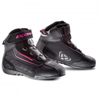 Baskets Moto Ixon Assault Evo Lady Noir Fushia
