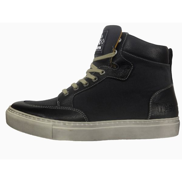 Baskets Moto Helstons Kobe Armalith Leather Grey Black
