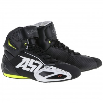 Baskets Moto Alpinestars Faster 2 Black White Yellow Fluo Red