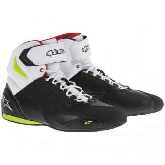 Baskets Moto Alpinestars Faster 2 Black Yellow Fluo Red