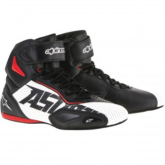 Baskets Moto Alpinestars Faster 2 Vented Black White Red