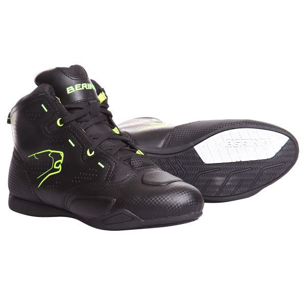 Baskets Moto Bering Jasper Waterproof Black Fluo